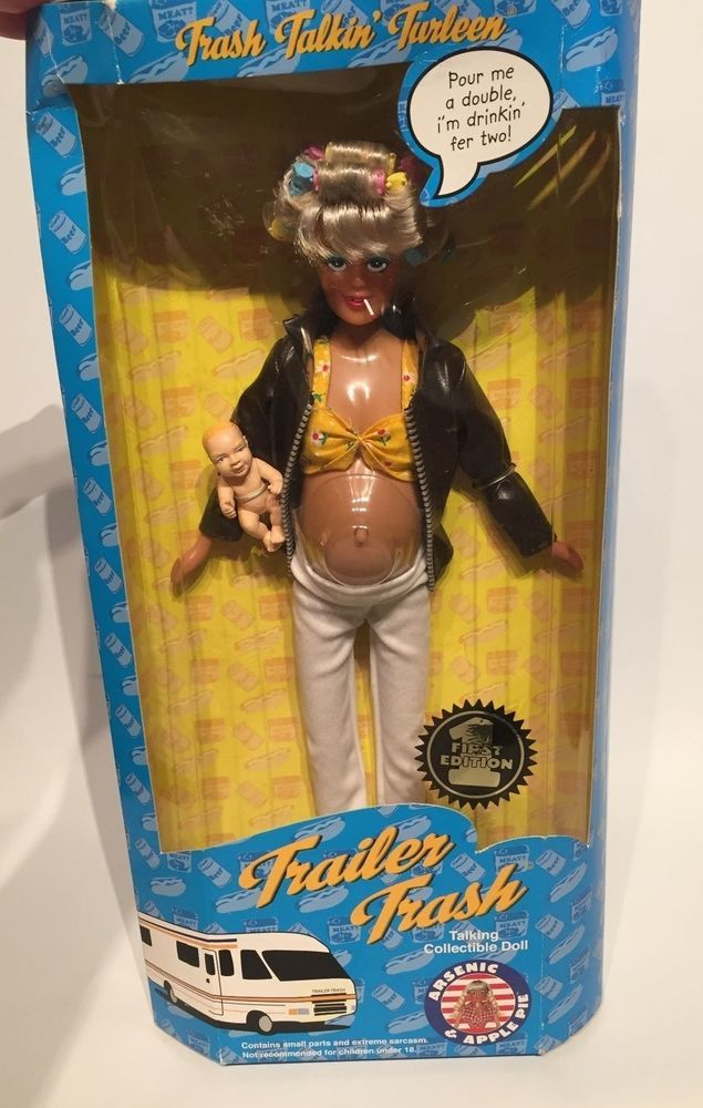 Vintage Trailer Trash Talking Collectible Doll