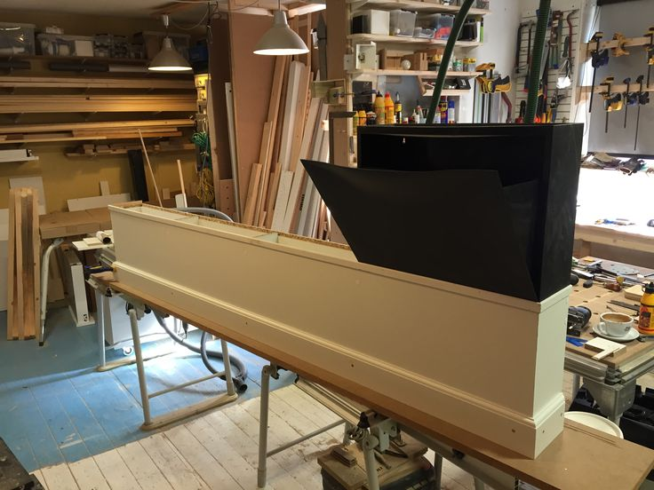 Working on a simple IKEA TRONES narrow cabinet base, that holds 4 cabinets. The goal is to do a in expensive and fast solution as it's a temporary solution. #ikea #narrow #customdesign #woodshop