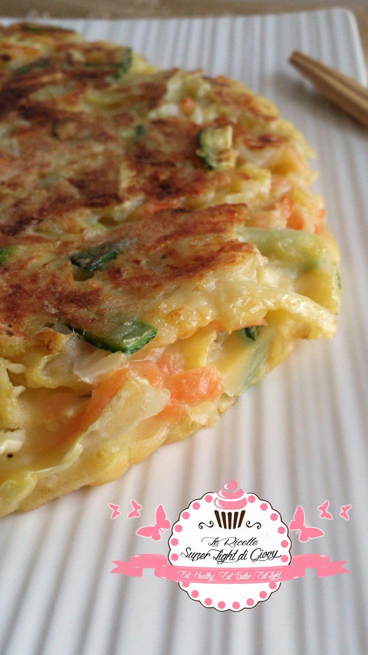 Okonomiyaki light - Frittata giapponese rivisitata e semplificata (486 calorie)