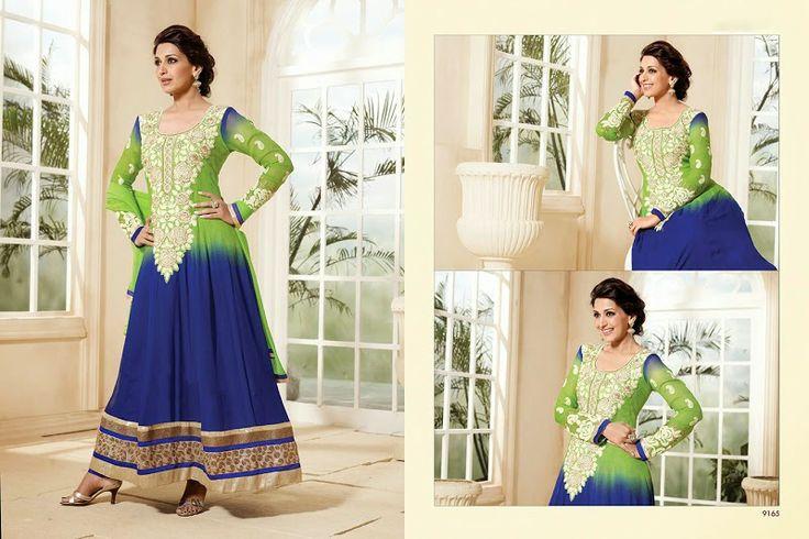 Salwar Suits Sonali Anarkali Suit - SA9165 - Shopping on Junction
