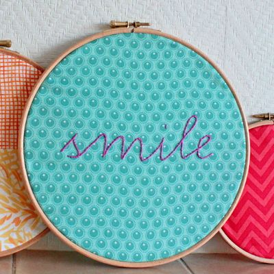 Fabric hoop tutorial! Great for kids rooms, family rooms, or any room you choose. These make awesome, inexpensive holiday gifts too.