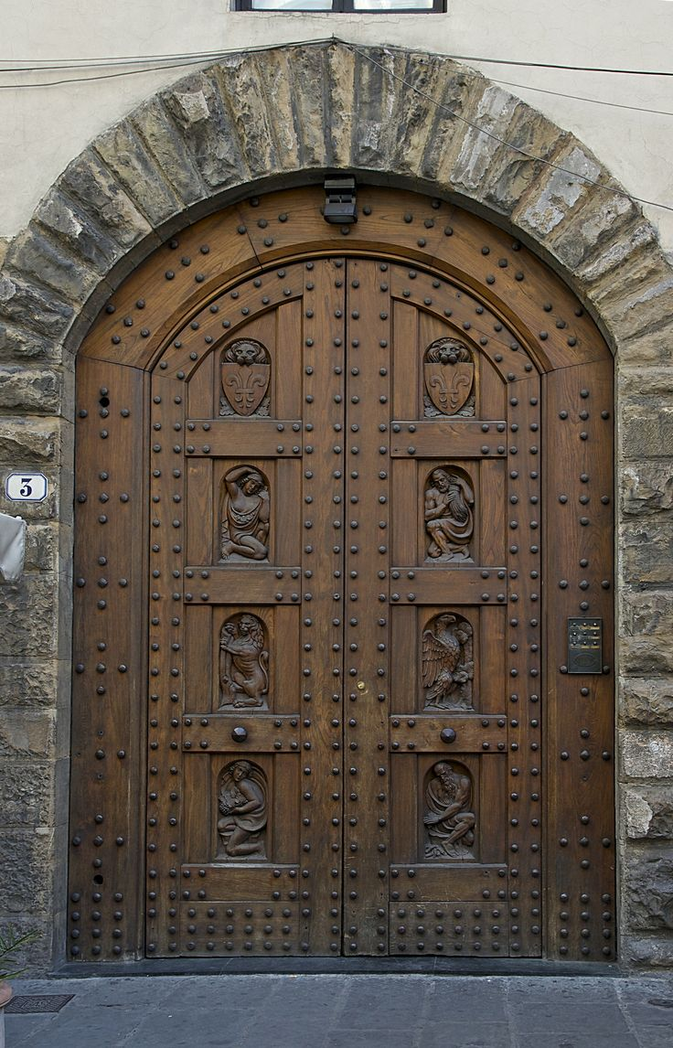 I like this castle door because there are a lots of interesting wood carving decorations on it. I like the brick design surrounding it and I might use door ... & 19 best Florence - Doors images on Pinterest | Florence italy ... Pezcame.Com