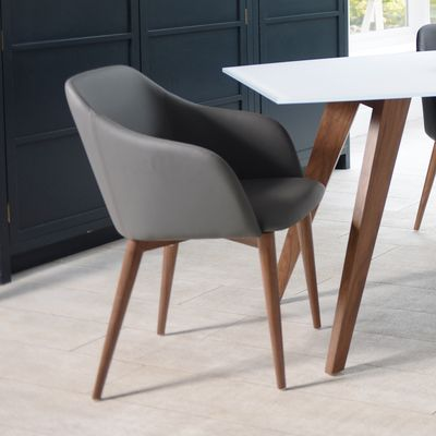 Dip dining chair grey