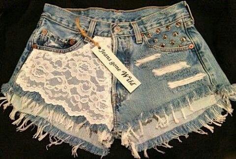 Jeans feito em casa costumizado ;) short cintura alta feito con calça jeans masculina