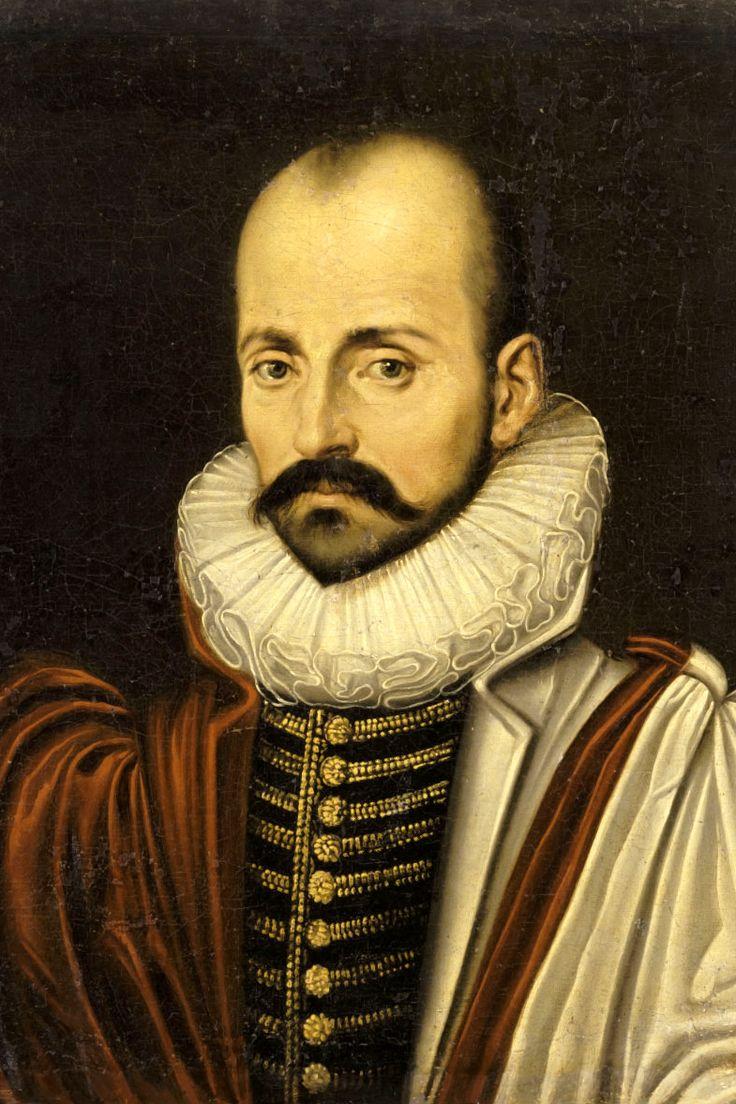 MICHEL DE MONTAIGNE (1533-1592).  Filósofo, escritor, humanista y moralista del Renacimiento y creador del género literario conocido como Ensayo.