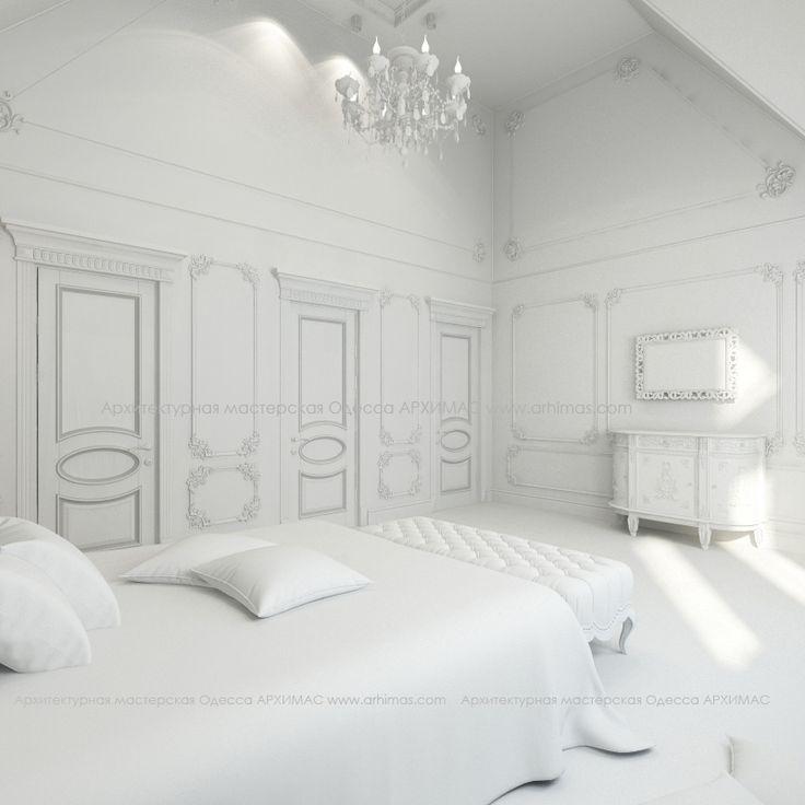 Дизайн интерьера спальня в жилом доме Нью-Йорк, в Куинс, на берегу пролива Ист-Ривер