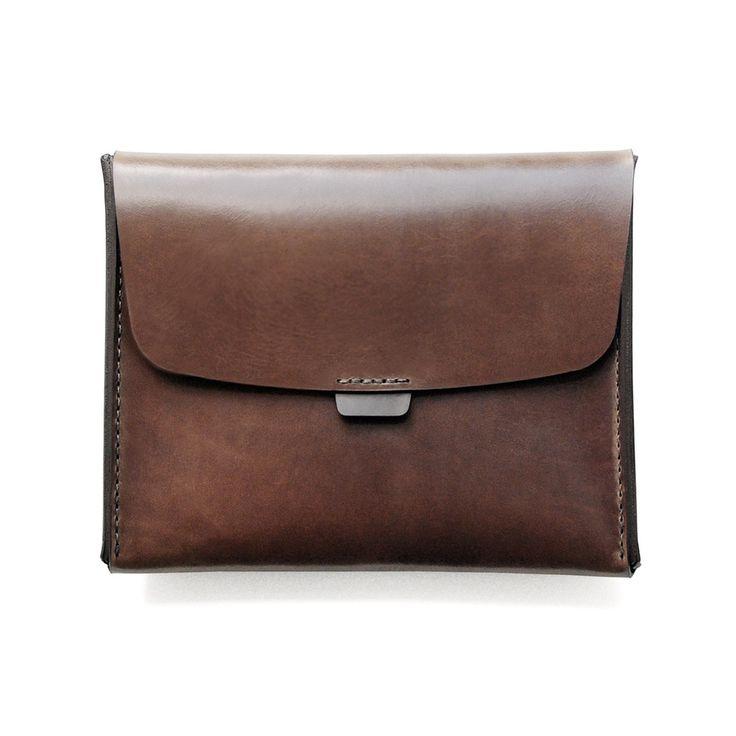 Leather Statement Clutch - Ginkgo To Go Natural by VIDA VIDA CRJAch2