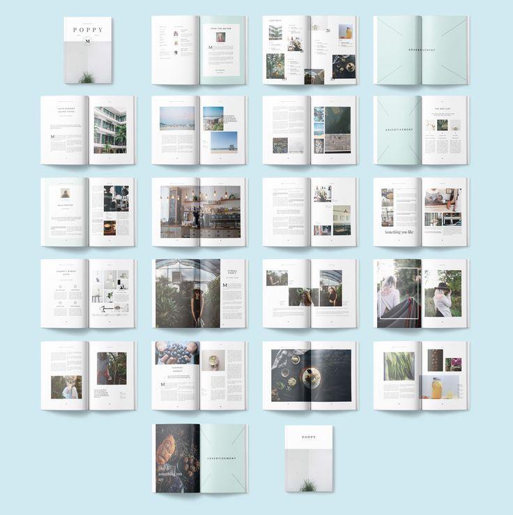 Poppy Magazine LayoutsMagazine DesignMagazine