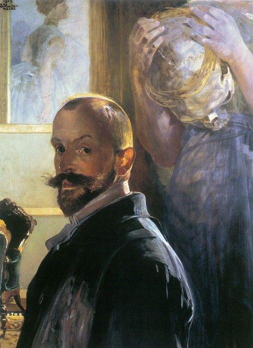 Автопортрет с черепом. Яцек Мальчевский