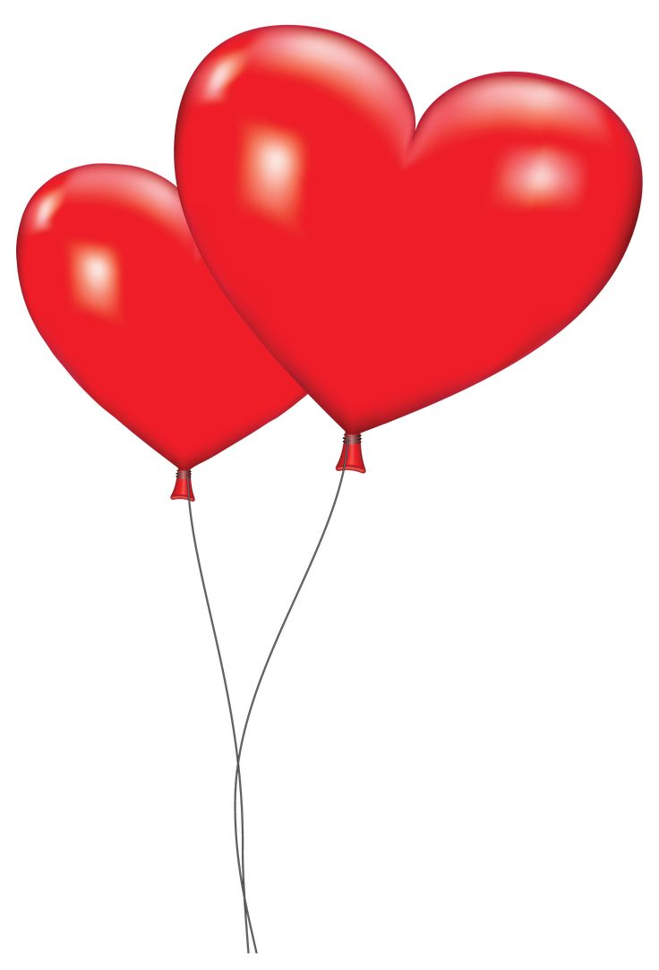 Orange Balloon Clipart Large Red Heart Balloons Png ...