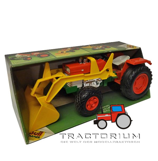 Box Bull 3480304 Massey Ferguson 165 Traktor mit Frontlader ca. 1/14