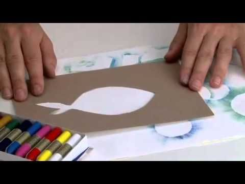▶ Hacer Reservas con Ceras Manley - YouTube  Oil pastels-It's in Spanish but it looks easy.