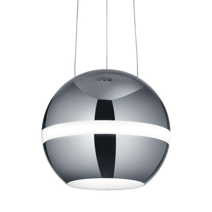 EEK A+, LED-Pendelleuchte Balloon - Metall - 1-flammig - Chrom, Trio Jetzt bestellen unter: https://moebel.ladendirekt.de/lampen/deckenleuchten/pendelleuchten/?uid=3648ea99-e4d4-59da-998e-56e7c3a3b267&utm_source=pinterest&utm_medium=pin&utm_campaign=boards #deckenleuchten #pendelleuchten #trio #lampen #innenleuchten