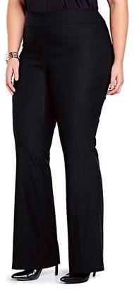 Addition Elle Michel Studio Plus-Size Addition Elle Elastic-Waist Flared Pants - Shop for women's Pants - Black Pants