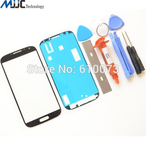 Black White Blue LCD Outer Lens for Samsung Galaxy S4 i9500/ i9505 Front Glass Screen Replacement Repair Kit 1PC Only