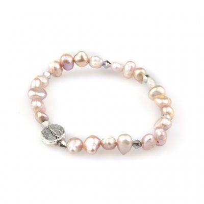 Våga - Armband Pärlor Enkel Rosa