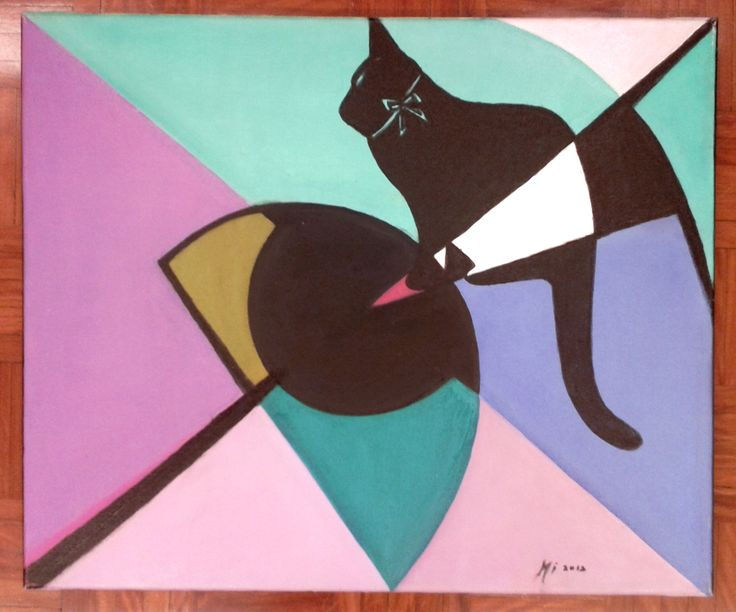 """Shadow cat""  - Oil on canvas  FOR SALE"