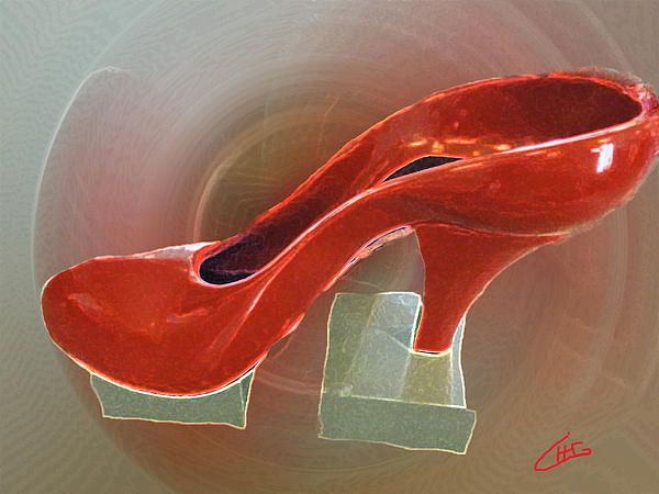 Red Dancing Shoe Rest :Colette H. Guggenheim