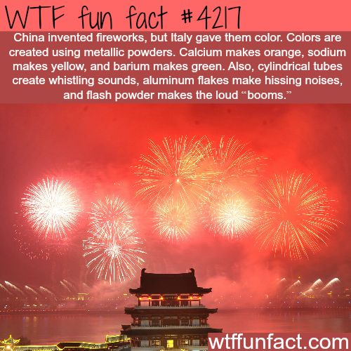 How fireworks get their different colors - WTF fun facts