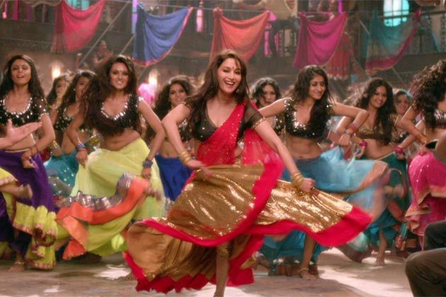 Madhuri Dixit , the first female mega-star of Bollywood , She was famous for her articulate acting and collaborating western dance with Indian classical dance.