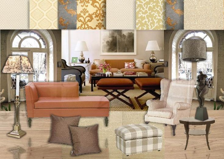 In Case You Were Ever Considering Melon I Really Like The Chaise Shape And Selections Of Wallpaper Find This Pin More On Interior Design Boards