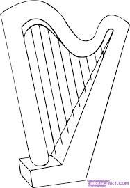 harp coloring pages - photo#25