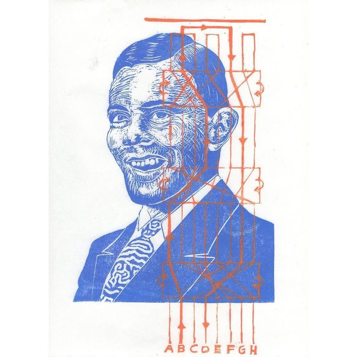 Happy birthday to Alan Turing #cryptographer #computerscientist #mathematician and WWII hero shown in my #sciart #linocut with a schematic of the Enigma machine and a tie alluding to Turing patterns and his contributions to mathematical biology. #histstm #printmaking