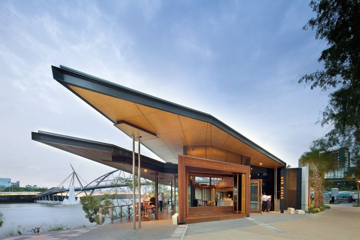 striking building boasts an architecturally folded roof..