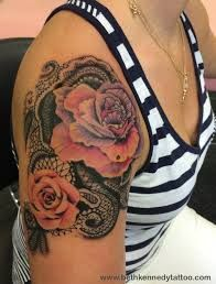 Image result for peonies and lace tattoo