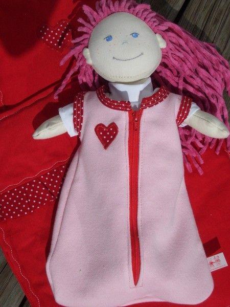 Schlafsack für Puppen Gr. 30 Haba Nele Lilli Lotta von Kindersachen-Puppensachen auf DaWanda.com