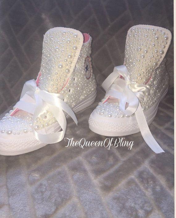 Wedding converse shoes & swarvoski crystals