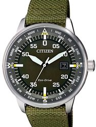 Citizen Eco-Drive Black Type B Dial Pilot Watch with Compass Markings #BM7390-22X