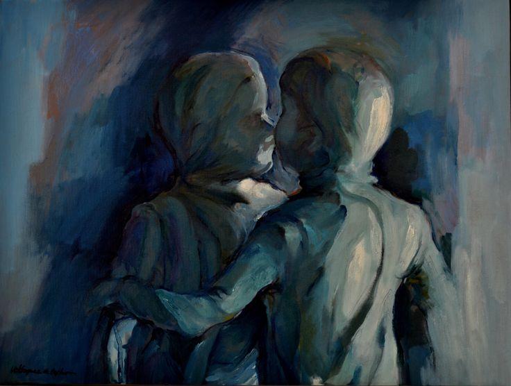 Sombras vivas I, óleo-lienzo, 46'5x61 cm.
