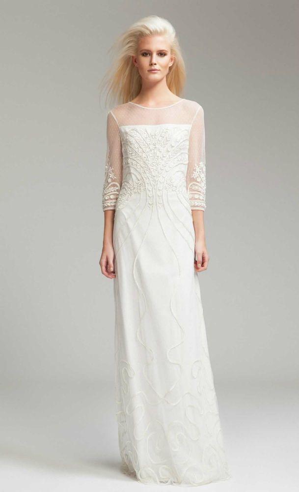 Alice By Temperley London Ivory Long Ezra Dress Size 14 Uk Rrp 625 8