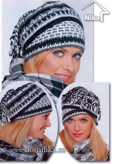 Связать женскую шапку крючком: