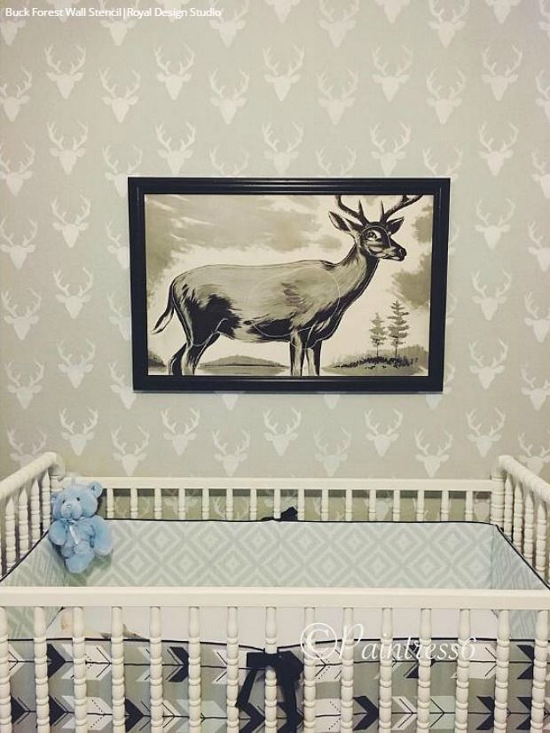 Wall Stencils Royal Design : Best nursery kid s room stencils images on