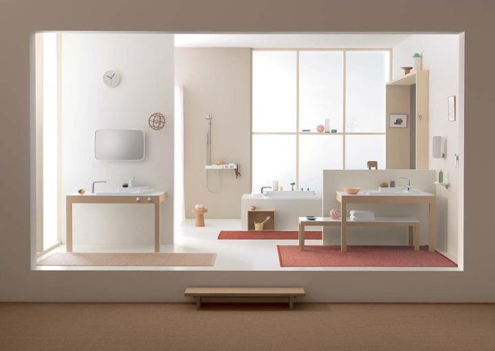 "Axor Bouroullec - ""Feel free to compose"". A bathroom collection that gives freedom to your individual ideas of composition.    Read more: http://www.hansgrohe-int.com/4959.htm"