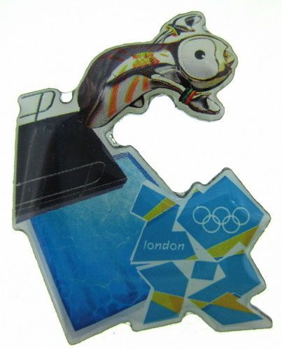 2012 London Olympic Mascot Sports Wenlock Diving Pin  | eBay