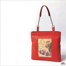 Kabelky - Kabelka WOMAN'S ELEGANCE - Red Car - 3704874