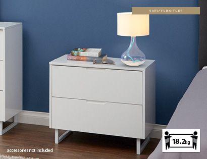 Aldi Valencia 2 Drawer Bedside Table Boys Room