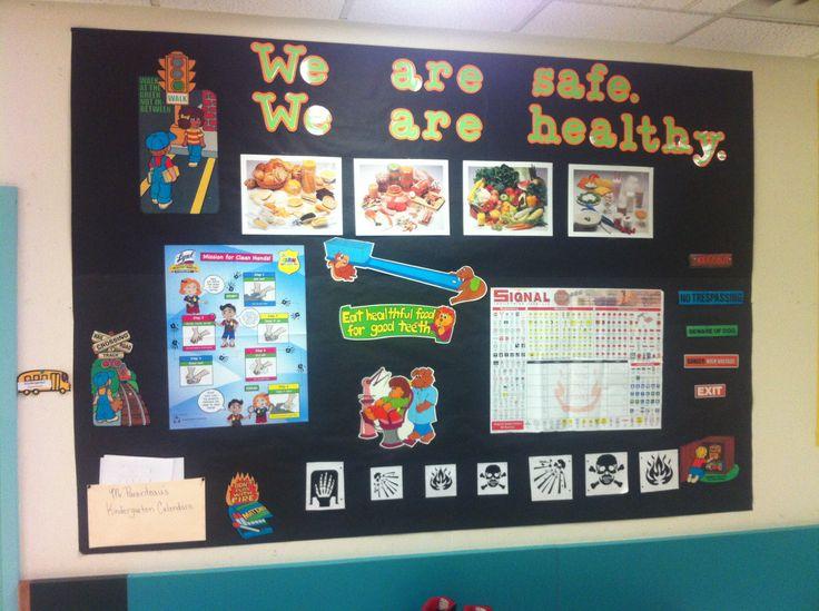 Health Kindergarten Bulletin Board