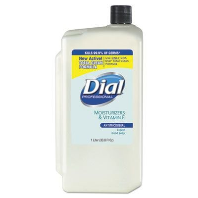 Antimicrobial Soap With Moisturizers, 1-Liter Refill, 8/ct