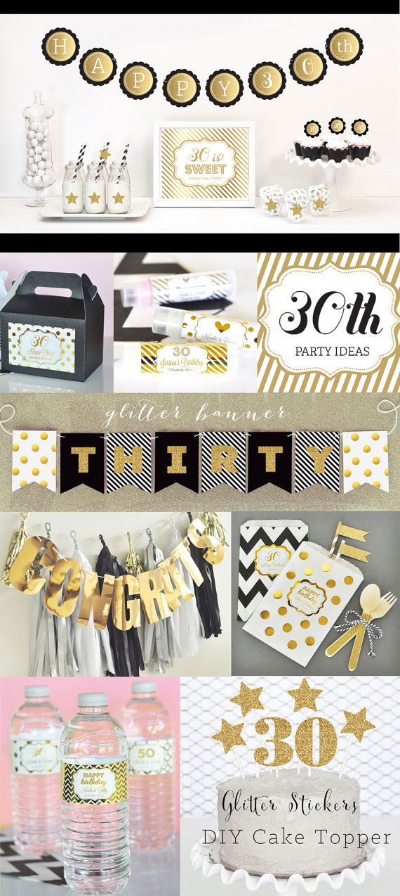 30th birthday party ideas and decorations in black and for 30th birthday party decoration