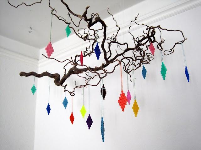 Harlekin - Perler hanging decoration by MariesFabrik