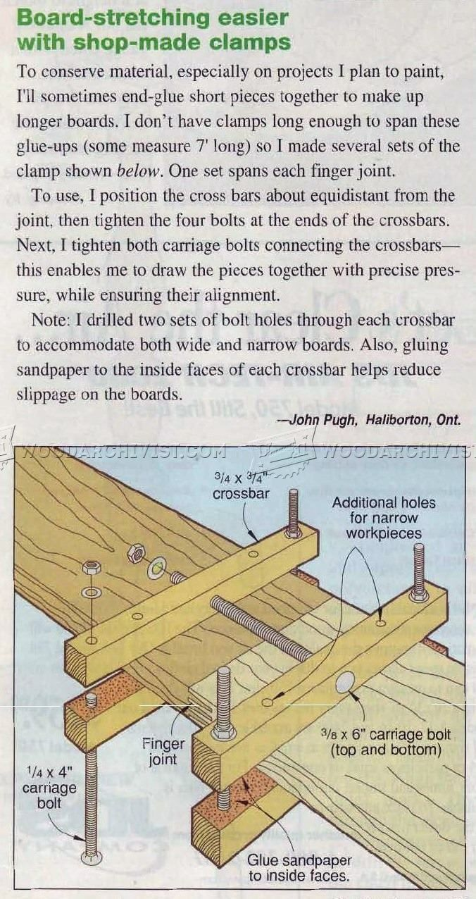 Board-Stretching Jig - Panel Glue Up Tips, Jigs and Techniques    WoodArchivist.com