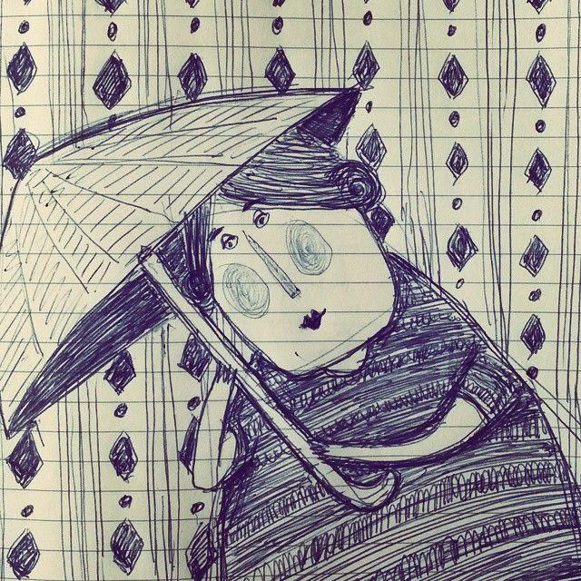 Kıymet Ergöçen #illustrator  #art #kiymetergocen #illüstrasyon #illustration #orjinal  #sanatsal #sanat #tasarım #paper #designs #designer #painting #drawing #kadın #card #şemsiye #çizim #resim #sketch #graphicdesign #yağmur #eskiz #kağıt #karakalem #rain #umbrella #woman #karalama