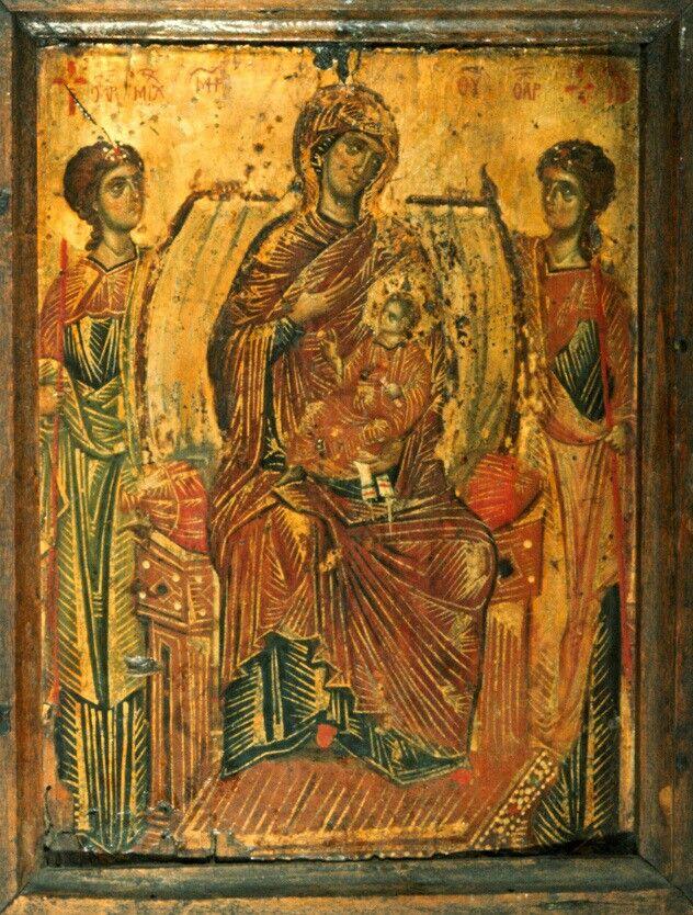 Theotokos Enthroned (With Angels) - atSt.Catherine's Monasteryin theSinai