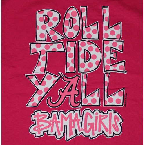 Alabama Crimson Tide Football T-Shirts - Bama Girls - Roll Tide Yall