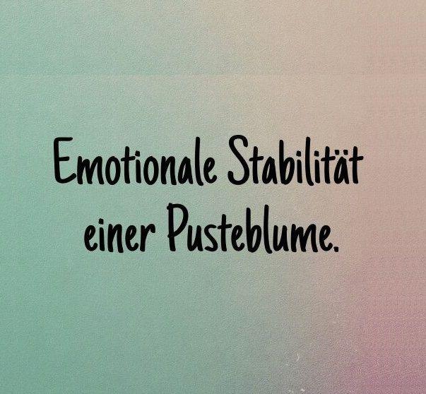 Ich hab die Emotionale Stabilität einer Pusteblume