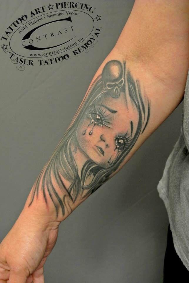 Contrast ink Tattoo  Art by  Arild Flatebø
